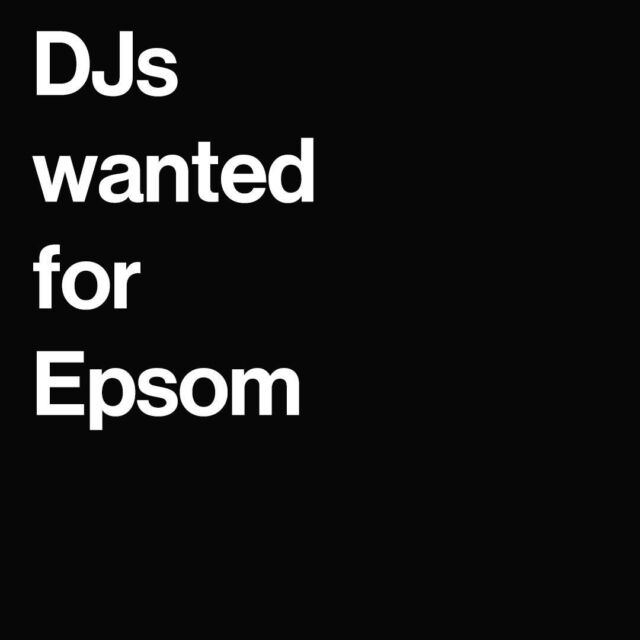 We are on the look out for exceptional open format DJS in Epsom    😍Only apply if you have good availability !!!   Please email your application to:  recruitment@jwdjagency.com and cc jaynee@jwdjagency.con into your application.   ✳️Application Criteria    - DJ Bio and a good quality photo or EPK.   - 3 of the following mixes:   💚 1 x mix of any music genre of your choice (60 minutes)  💚 1 x Open format club style mix (60 minutes)   💚 1x 70s,80s,90s party mix (30 minutes)   Most DJS can play RnB and Hip Hop, House and Chart music but we need to know that our DJS can dig deep into other areas of other music genres and mix them beautifully if required.   We do not accept applications by phone or via our social media platforms.   #recordlabel #danceagain #music #nightlife #dj #techno #clubbing #entertainment #love #housemusic #djlife #festival #lovewhatyoudo #independentrecordlabel #housemusic #techhouse #dubai #london #jwdjs #exigodjs #exigoresidents #musicproducers #clubevents #newworldfest #events #clubdjs #musicproducers  
